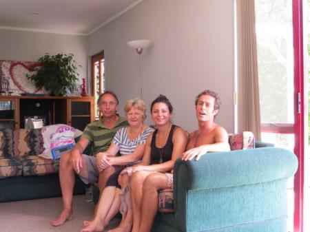A casa Bell con Richard, Karen e Giorgia
