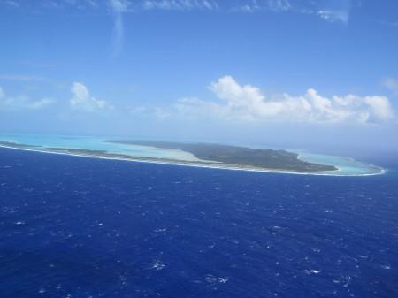 04 Aitutaki dall'alto - Isole Cook
