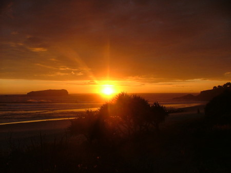 sunset at fingal