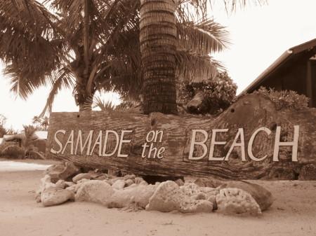 Samade on the beach