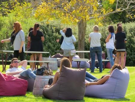 Howard Park i gruppetto si rilassa prima del wine tasting