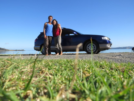 Winki, Giorgia e Blue la Station Wagon - courtesy by Alternative Car Rental - Auckland