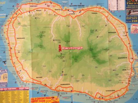 Mappa di Rarotonga