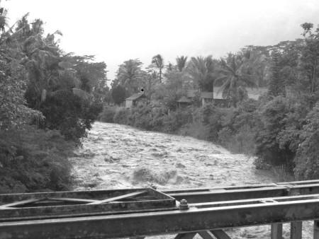 Il fiume di Sidemen al ritorno