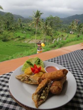 Il pranzo delizioso al warung Uma Anyar