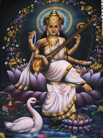 Sarasvatī la dea della conoscenza e delle arti