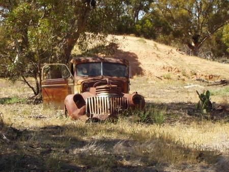 Old car into the wild Australia