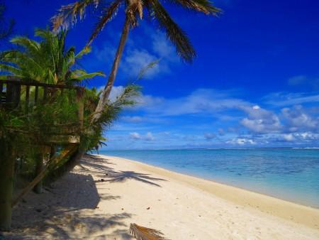 Rarotonga on the beach