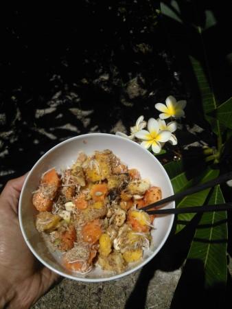 Un'altra versione con papaia e semi di chia