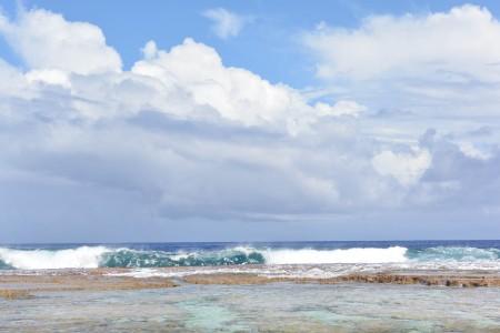 Le onde che infrangono in prossimità del Coral Garden